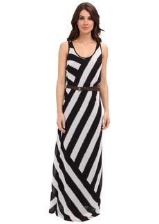MICHAEL Michael Kors Ocean Stripe Racerback Maxi Dress