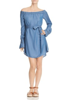 MICHAEL Michael Kors Off-the-Shoulder Chambray Dress - 100% Exclusive