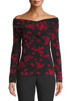 MICHAEL Michael Kors Off-The-Shoulder Floral-Print Top