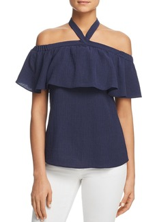 MICHAEL Michael Kors Off-the-Shoulder Halter Top