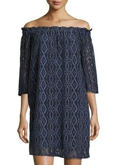 MICHAEL Michael Kors Off-the-Shoulder Lace Dress