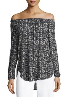 MICHAEL Michael Kors Off-the-Shoulder Long-Sleeve Top