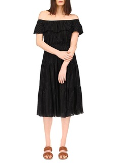 MICHAEL Michael Kors Off-the-Shoulder Midi Dress
