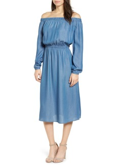 MICHAEL Michael Kors Off the Shoulder Midi Dress