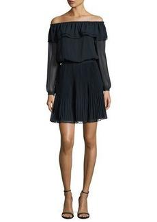 MICHAEL Michael Kors Off-the-Shoulder Pleated Dress