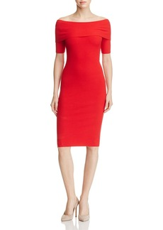 MICHAEL Michael Kors Off-the-Shoulder Ribbed Sweater Dress - 100% Exclusive