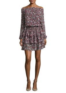MICHAEL MICHAEL KORS Off-the-Shoulder Ruffled Blouson Dress