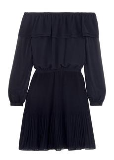 MICHAEL Michael Kors Off-the-shoulder ruffled chiffon mini dress