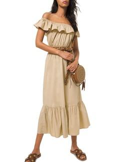 MICHAEL Michael Kors Off the Shoulder Ruffled Dress