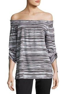 MICHAEL Michael Kors Off-the-Shoulder Smocked Top