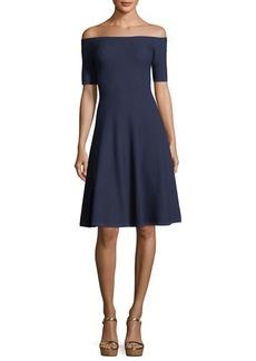 MICHAEL Michael Kors Off-the-Shoulder Textured-Knit Dress