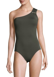 One-Piece One-Shoulder Swimsuit