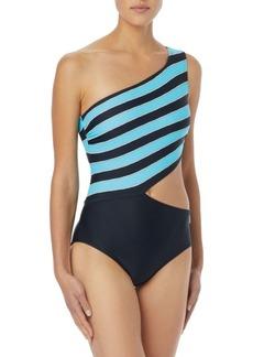 MICHAEL MICHAEL KORS One-Shoulder Cutout Swimsuit