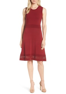 MICHAEL Michael Kors Ottoman Fit & Flare Knit Dress