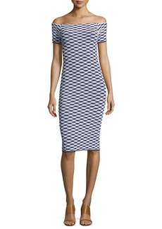MICHAEL Michael Kors Ottoman Graphic-Print Dress