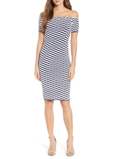 MICHAEL Michael Kors Ottoman Off the Shoulder Body-Con Dress
