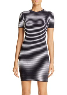 MICHAEL Michael Kors Ottoman Stripe Textured Knit Dress