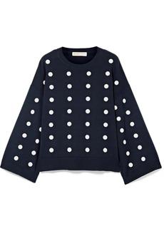 MICHAEL Michael Kors Oversized embellished cotton sweater