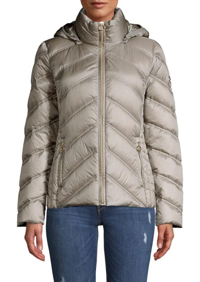 MICHAEL Michael Kors Packable Chevron Quilt Feather-Fill Coat