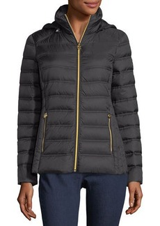 MICHAEL Michael Kors Packable Removable-Hood Puffer Jacket