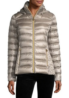 MICHAEL Michael Kors Packable Removable-Hood Puffer Jacket