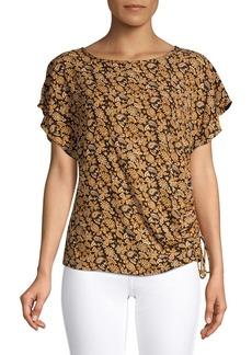 MICHAEL Michael Kors Paisley Flutter-Sleeve Top