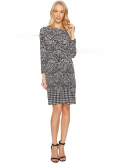 Paisley Houndstooth Border Dress