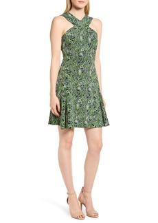 MICHAEL Michael Kors Paisley Paradise Fit & Flare Dress