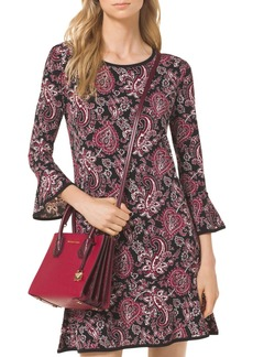 MICHAEL Michael Kors Paisley Print Flounce Dress
