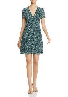 MICHAEL Michael Kors Paisley-Print V-Neck Dress