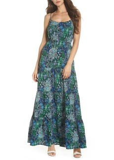 MICHAEL Michael Kors Paisley Remix Tiered Maxi Dress