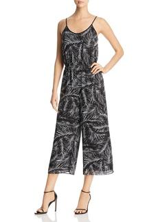 MICHAEL Michael Kors Palm Print Cropped Wide-Leg Jumpsuit