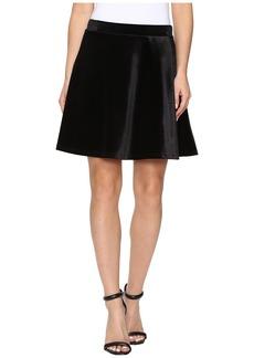 MICHAEL Michael Kors Panne Velvet Circle Skirt