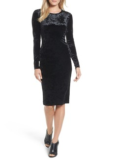 MICHAEL Michael Kors Panne Velvet Crew Dress