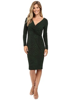 MICHAEL Michael Kors Panther Long Sleeve Wrap Dress