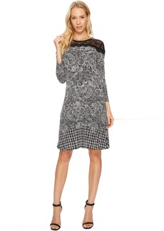 MICHAEL Michael Kors Pasiley Houndstooth Lace Dress
