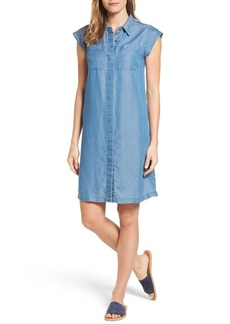 MICHAEL Michael Kors Patch Pocket Chambray Shirtdress