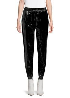MICHAEL Michael Kors Patent Faux-Leather Joggers