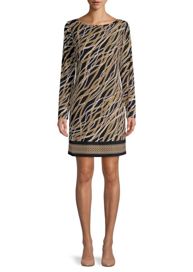 MICHAEL Michael Kors Pearl & Chain-Print Mini Dress
