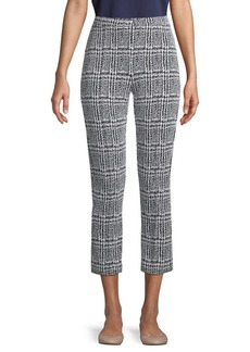 MICHAEL Michael Kors Plaid Jacquard Cropped Pants