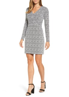 MICHAEL Michael Kors Plaid Jacquard Fit & Flare Dress
