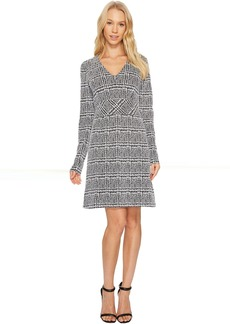 MICHAEL Michael Kors Plaid Jacquard Fit and Flare Dress