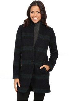 Plaid Menswear Wool Coat