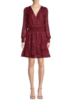 MICHAEL Michael Kors Plaid Ruffled Mini Dress