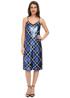 MICHAEL Michael Kors Plaid Sequin Slip Dress
