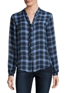 MICHAEL Michael Kors Plaid T-Neck Top