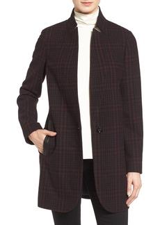 MICHAEL Michael Kors Plaid Wool Blend Coat