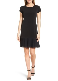 MICHAEL Michael Kors Pleat Chiffon Hem Jersey Dress