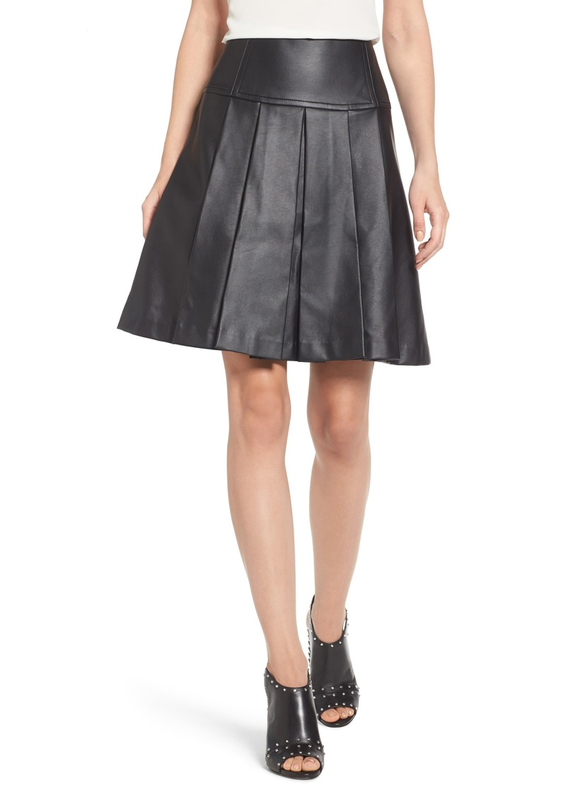 f9269d19a1a MICHAEL Michael Kors MICHAEL Michael Kors Pleat Faux Leather Skirt ...