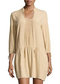 MICHAEL Michael Kors Pleat-Front Peasant Dress